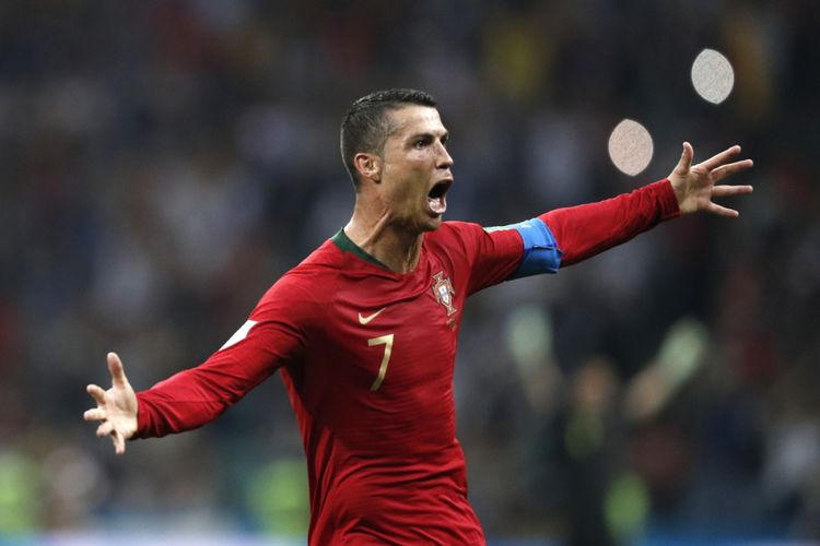 Hattrick Ronaldo Bawa Portugal Imbangi Spanyol